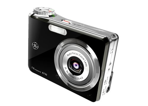 GE A730 7MP Digital Camera with 3x Optical Zoom (Black)