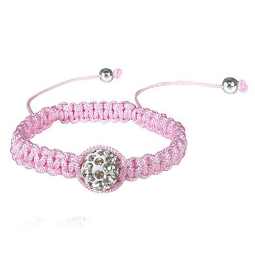 Wrapables Children's Single Bead Shamballa Inspired Cord Bracelet - 1