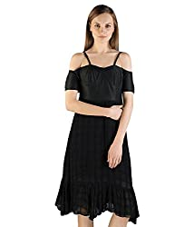 Tryfa Women's Dress (TFDRMI000096-XS-XS_Black_X-Small)