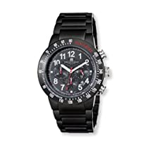 Charles Hubert Black-Plated Stnlss Stl Black Dial Chronograph Watch