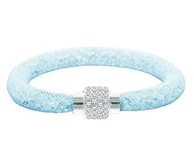Crystal Mesh Bracelet in Blue