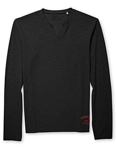 Guess Men's Notched Neck Long Sleeve T-Shirt