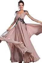 Hot Sale eDressit New Sexy V-neck Black Lace Evening Dress(02130201)