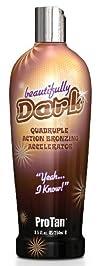 ProTan Pro Tan Beautifully Dark Bronzer Indoor Tanning Salon Bronzing Tan Lotion 8.5 fl oz 250mL e…