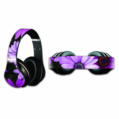 Mightyskins Protective Vinyl Skin Decal Cover For Dr. Dre Beats Studio Headphones Sticker Skins Purple Flowers