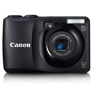 Canon PowerShot A1200 12.1 MP Digital Still Camera with 4x Wide-Angle Optical Zoom (Black)