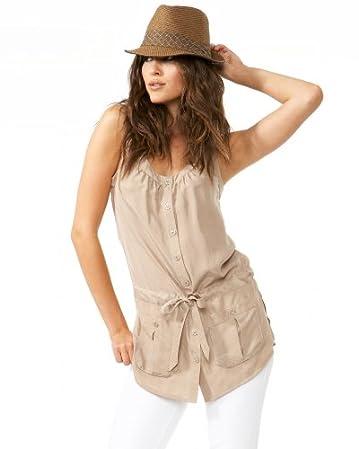 bebe.com Silk Racerback Tunic :  blouse racerback style shirt