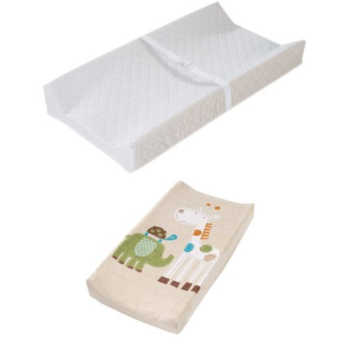 Summer Infant Contoured Changing Pad Amazon Frustration Free Packaging and Safari Stack Cover - 1
