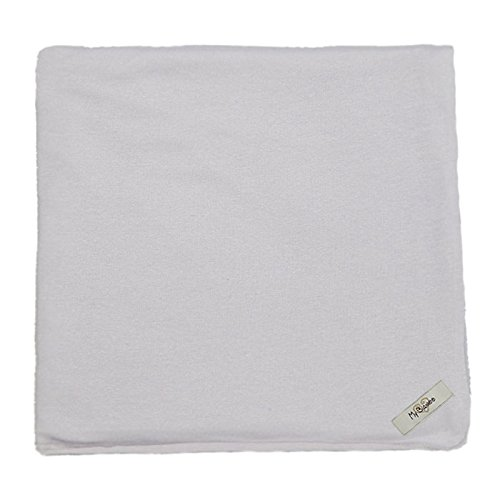 "My Blankee Organic Cotton  Jersey Knit Swaddle Baby Blanket, 47"" X 47"", Silver"