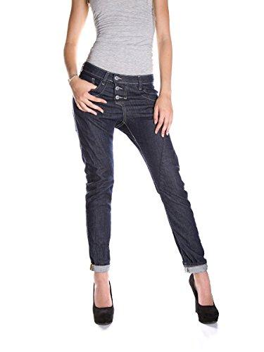 PLEASE - P78 jeans scuro da donna baggy xl denim scuro