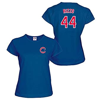 Anthony Rizzo Chicago Cubs Royal Ladies Player T-Shirt by Majestic by Majestic
