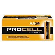 Procell Alkaline Batteries, AA, 24/Box