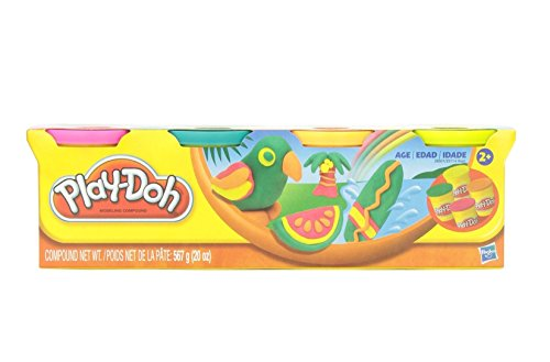 Play-Doh Classic Tropical Colors 4 Can Pack Arts & Crafts 20oz. - 1