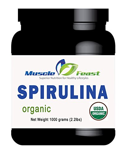 Organic Spirulina Powder By Muscle Feast (1000 Grams)