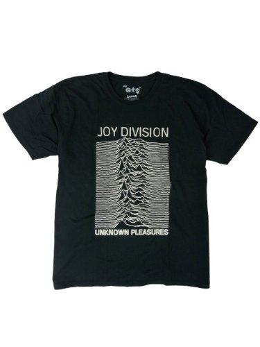 HQ ロックTシャツ Joy Division ジョイ ディヴィジョン Unknown Pleasures Lサイズ ブラック GT2-328L