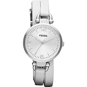 Fossil - ES3246 - Montre Femme - Quartz Analogique - Bracelet Cuir Blanc