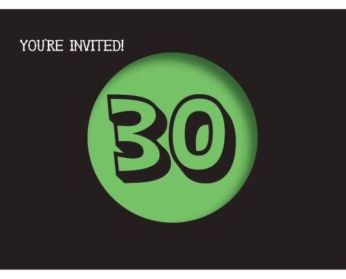 Creative Converting Holy Bleep 8 Count 30th Birthday Invitations