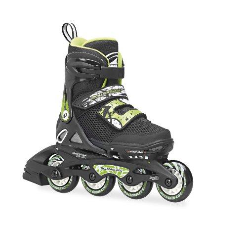 rollerblade-inlineskate-kids-spitfire-sl-patines-en-linea-color-negro-verde-talla-de-365