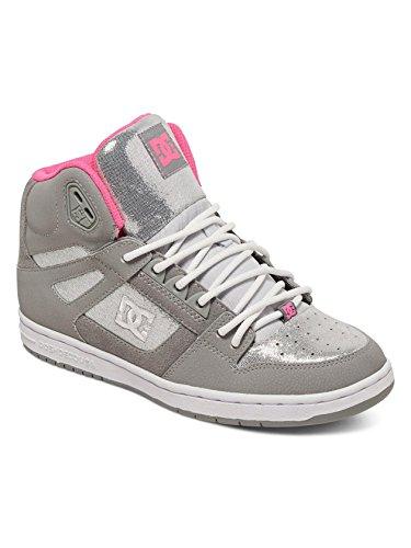 DC Rebound High SE Skate Shoe, Silver, 10 M US