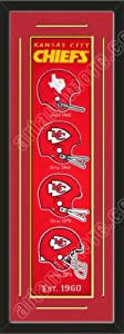 Heritage Banner Of Kansas City Chiefs With Team Color Double Matting-Framed Awesome... by Art and More, Davenport, IA