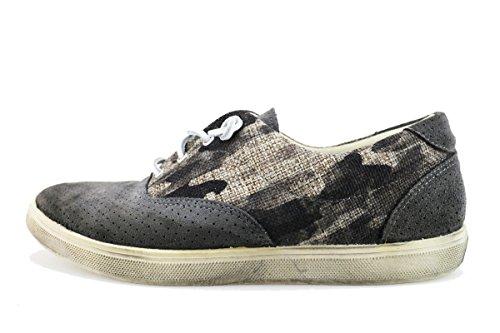 BEVERLY HILLS POLO CLUB sneakers uomo grigio tela camoscio AG168 (41 EU)