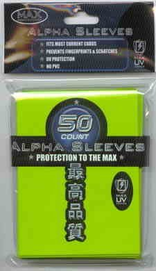 Max Protection Alpha Flat Lime Green Sleeves - Sized for YuGiOh [Toy] - 1