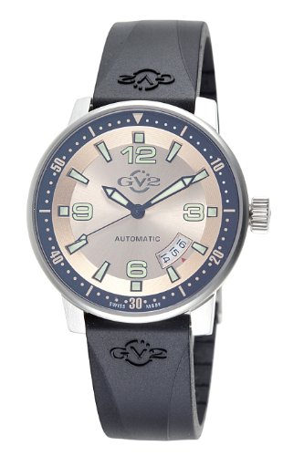 GV2 by Gevril Men's 4011R Stadium Automatic Stainless Steel Rubber Strap Watch