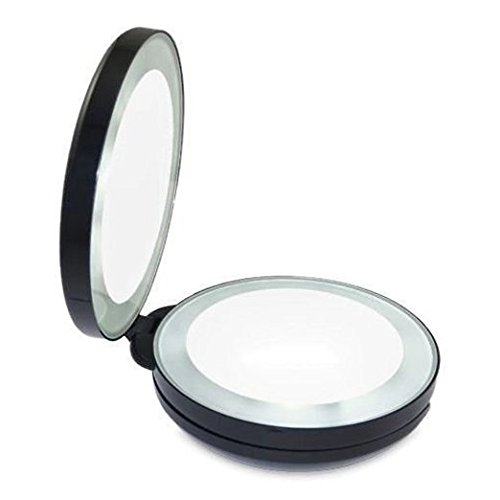 neuf alierkin miroir de maquillage pliable miroir grossissant avec lumi re led ebay. Black Bedroom Furniture Sets. Home Design Ideas