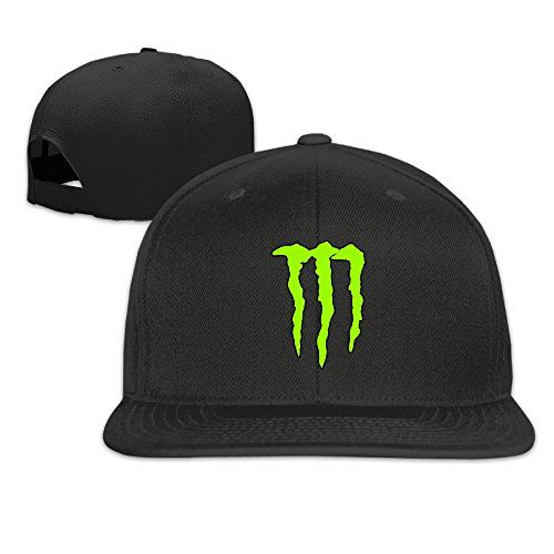 Custom Unisex Energy Claw Casual Baseball Visor Cap Black (Monster Hats Energy compare prices)