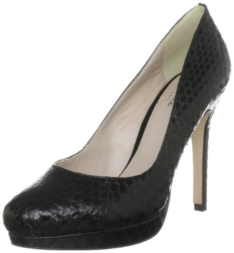 Bourne Women's Agnes Black Platforms Heels L09059 8 UK