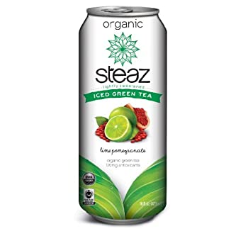 Set A Shopping Price Drop Alert For Steaz Organic Iced Teaz, White Tea with Lime and Pomegranate, 16-Ounce Cans, 12-Count