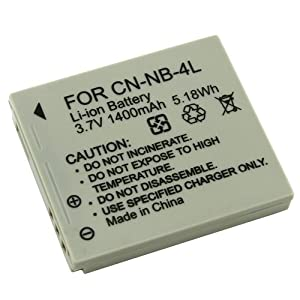 Lithium-Ion Battery for Canon NB-4L Digital Camera