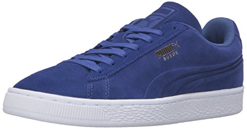 PUMA Men's Suede Classic Debossed Q3 Fashion Sneaker, Mazarine Blue, 11 M US (State Street Shoes For Men compare prices)