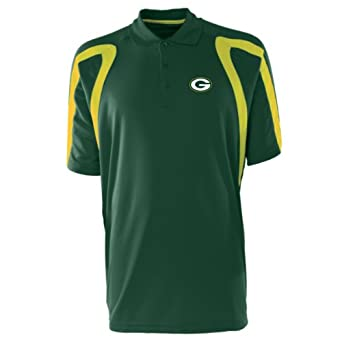 NFL Mens Green Bay Packers Point Desert Dry Polo Shirt by Antigua