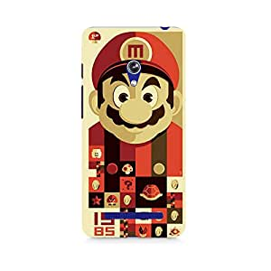 Motivatebox- Mario Premium Printed Case For Asus Zenfone 5 -Matte Polycarbonate 3D Hard case Mobile Cell Phone Protective BACK CASE COVER. Hard Shockproof Scratch-