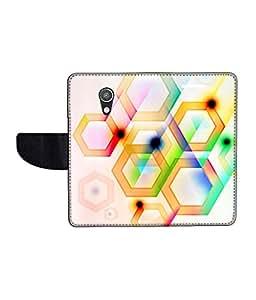 KolorEdge Printed Flip Cover For Motorola Moto G2 Multicolor - (50KeMLogo11514MotoG2)