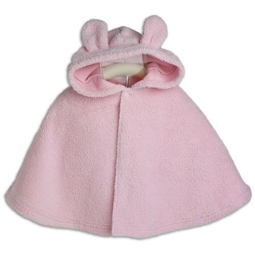 【うさぎ】着ぐるみ フード付き マント 【70cm から 90cm】 ベビー ピンク ケープ 防寒