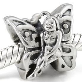 Authentic OHM Butterfly Fairy 925 Sterling Silver Fantasy Bead fits European Charm Bracelet