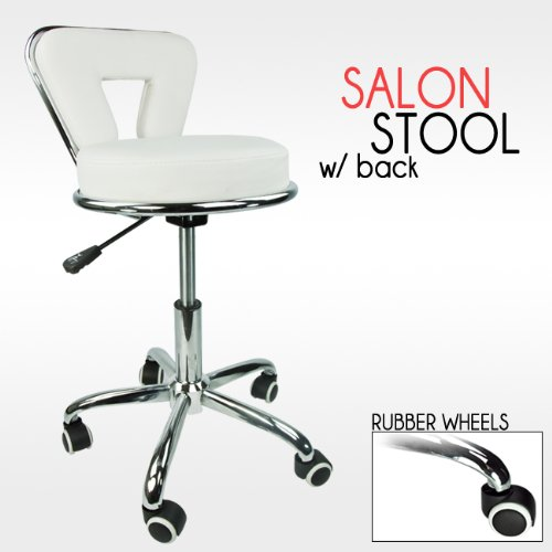 Barber Dentist : ... Working Stool Doctor Dentist Salon Spa Barber White Chair PU Leather