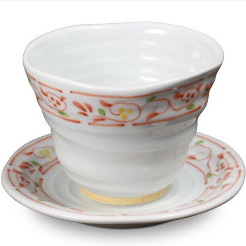 Japanese Arita Ware Tea Cup & Saucer Nishitofuchikarakusa (Tea Cup 1Pc Saucer 1Pc)