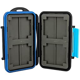AGEG SD CF Card Case with Waterproof Hard Shell for Protecting SLR Memory Card