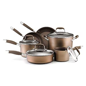 Anolon Advanced Bronze Hard Anodized 10 piece collection