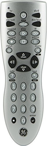 GE 24914 Universal Remote Control, 4-Device Infrared Silver (Discontinued by Manufacturer)