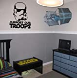 Support Our Troops Vinyl Wall Decal Sticker