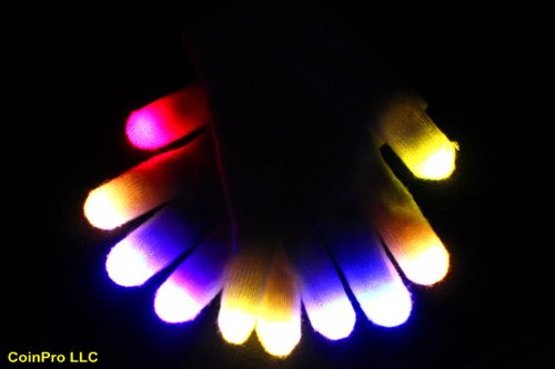 Led Gloves , Did I Stutter Glove Set, Rave Gear