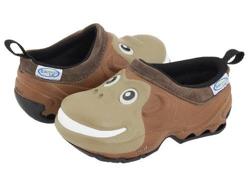 Polliwalks, Pantofole per bambini con scimmietta, colore: Marrone