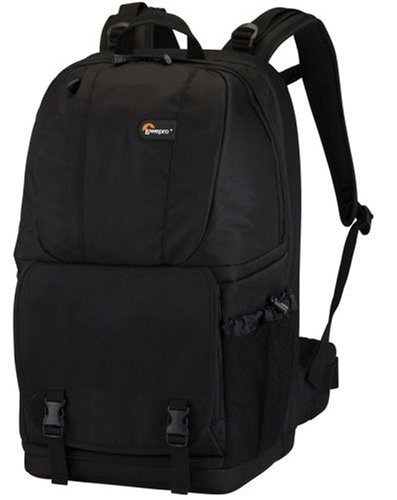 Lowepro Fastpack 350 Quick Access Backpack For SLR Kit, 17″ Notebook & General Gear for Canon 550D, 500D, 1000D, Nikon D3000, Samsung NX10, PL1, Panasonic G2,  Sony Alpha A450  – Black