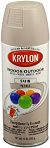 Krylon 53520 Pebble 'Satin Touch' Decorator Spray Paint - 12 oz. Aerosol