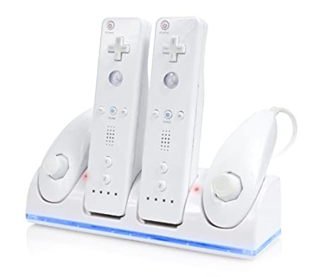 Wii Dual Charge Station with Dual Nunchuck Holder