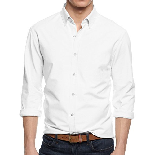 HB Mens Dress Shirts (M (15-15.5), White) (White Dress Shirt Extra Slim Fit compare prices)
